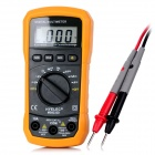 "HYELEC MS8233D 1.8"" Auto / Manual Digital Multimeter - Black + Yellow (1 x 6F22)"