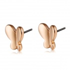 Simple Butterfly Shaped Earrings - Rose Gold (Pair)