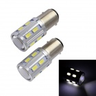 T20 10W 12V 600lm 5555K 16-LED 2-Mode Red Light COB Fog Light Bulb (2 PCS)