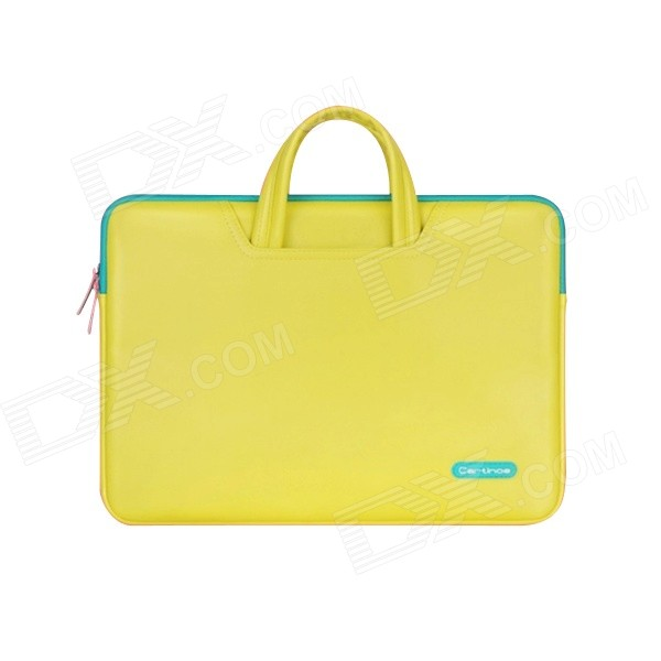 Cartinoe PU Laptop Inner Tote Bag for Microsoft Surface Pro 3 - Yellow