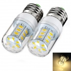 Exled E27 7W 3000K bulbo blanco caliente de 800lm 24-SMD 5730 LED (220 ~ 240V)