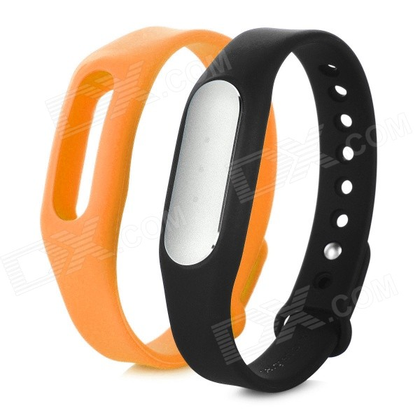 Xiaomi Miband Bluetooth Smart Bracelet for Phone - Black + OrangeSmart Bracelets<br>Form  ColorBlack + OrangeQuantity1 DX.PCM.Model.AttributeModel.UnitMaterialAluminum alloy TPSIV + TPUShade Of ColorBlackWater-proofIP67Bluetooth VersionBluetooth V4.0Touch Screen TypeNoOperating SystemAndroid 4.4Compatible OSSupports Android 4.4 or above, Bluetooth V4.0 Android cell phones; Suitable for IPHONE 4S/5/5C/5S/6/6 PLUS with iOS 7.0 or aboveBattery Capacity45 DX.PCM.Model.AttributeModel.UnitBattery TypeLi-polymer batteryStandby Time30 DX.PCM.Model.AttributeModel.UnitOther FeaturesWith white LED indicator light; APP download link: http://app.mi.com/detail/68548Packing List1 x Bracelet1 x Wristband1 x Charging cable (15cm)<br>