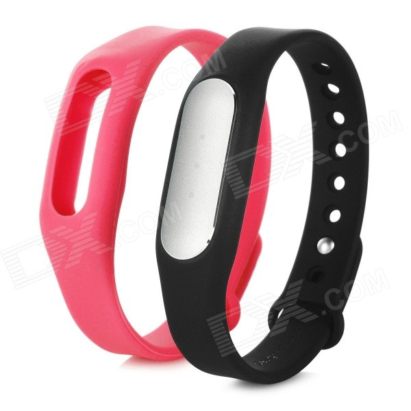 Xiaomi Miband Bluetooth Smart Bracelet for Phone - Black + Pink