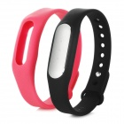 Xiaomi Miband Bluetooth V4.0 Waterproof Smart Bracelet w/ Silicone Band for Phone - Black + Pink