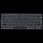 "ENKAY Protective Translucent Silicone Keyboard Film for the New MacBook 12"" - Black"