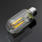 E27 4W 4-COB 400lm Yellow Light Filament Lamp (AC 220V)