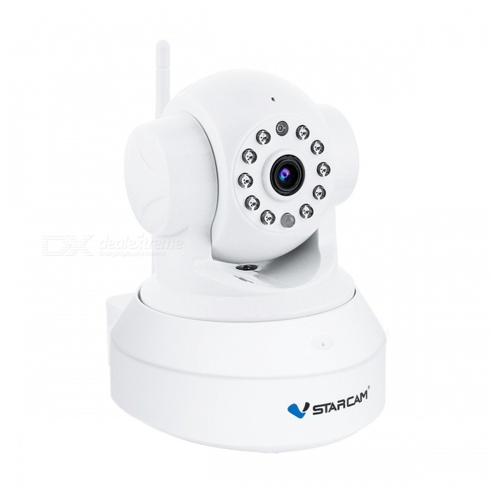 "VSTARCAM C7837WIP 1/4"" CMOS 720P Wifi IP Camera - White (UK Plug)"
