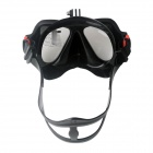 Fat Cat Scuba Diving Mask for GoPro, SJ5000, Xiaoyi - Black