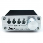 3.5mm MP3 Switch Audio Headphone Output Switcher -Black (4-In / 4-Out)