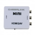 CHEERLINK Full HD 1080P HDMI to CVBS / AV L/R Converter - White