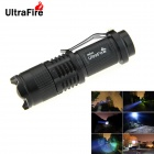 UltraFire XP-E R5 1-LED 400lm 1-Mode Cool White Light Flashlight w/ Clip - Black (1 x 14500)