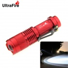 UltraFire SK68XPE 1-LED 400lm 1-Mode Cool White Light Flashlight w/ Clip - Red (1 x 14500)