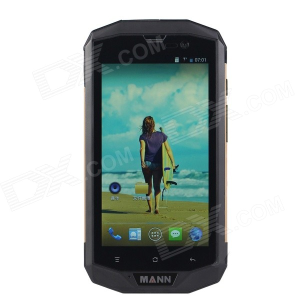 MANN ZUG 5S Android 4.4 4G Phone w/ 1GB RAM, 8GB ROM - Black + Golden