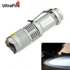 UltraFire SK68XPE 1-LED 400lm 1-Mode Cool White Light Flashlight w/ Clip - Silver (1 x 14500)