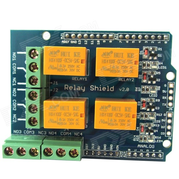 Relay Shield v2.0 5V 4-Channel Relay Module w/ Serial Bluetooth Interface for Arduino UNO / MEGA2560