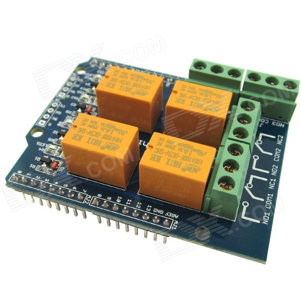 Relay shield v channel module for arduino
