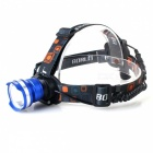 ZHISHUNJIA 800lm Cool White 3-Mode Zooming Headlamp w/ Cree XM-L T6 - Blue + Silver (1 x 18650)