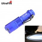 UltraFire XP-E R5 1-LED 400lm 1-Mode Cool White Light Flashlight w/ Clip - Blue (1 x 14500)