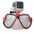 Fat Cat Scuba Diving Mask for GoPro, SJ5000, Xiaoyi - White + Red