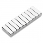 N35 Rectangle Shaped F10*3*3mm NdFeB Magnets - Silver (10PCS)