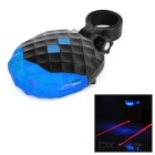 7-Mode 5-LED Blue Light Bike Safety Tail Lamp w/ 2-Mode Parallel Laser - Black + Blue (2 x AAA)