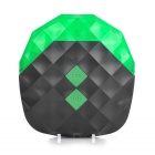 7-Mode 5-LED Green Light Bike Tail Lamp w - Black + Green (2 * AAA)