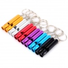 Outdoor Travel Emergency Aluminum Alloy Whistles w/ Keyring - Blue + Silver + Multicolor (12 PCS)