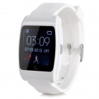 "UX Smart Bluetooth Bracelet U Watch w/ 1.4"" LCD - White"