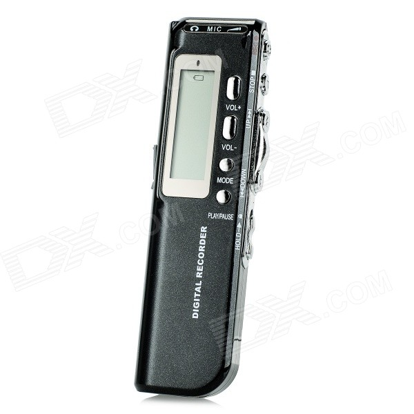 "1.3"" LCD Digital Audio Voice Recorder w/ 4GB Memory / USB / Telephone Recording - Black (2 x AAA) thumbnail"