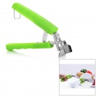 Multi-functional Anti-Scalding Stainless Steel Bowl Dish Spring Clamp Tongs - Green + Silver