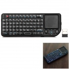 RT-UMK-100-RF 2.4G Wireless Mini Laser Air Mouse Keyboard w/ Touchpad - Black
