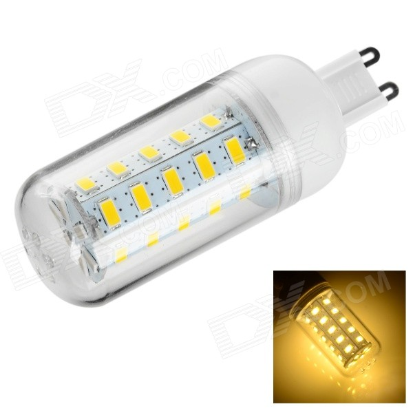 G9 9W 450lm 3500K 36-SMD 5730 LED Warm White Corn Lamp (220~240V)
