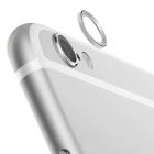 TPU Back Case + Lens Guard Ring Sticker for IPHONE 6 Plus - Silver
