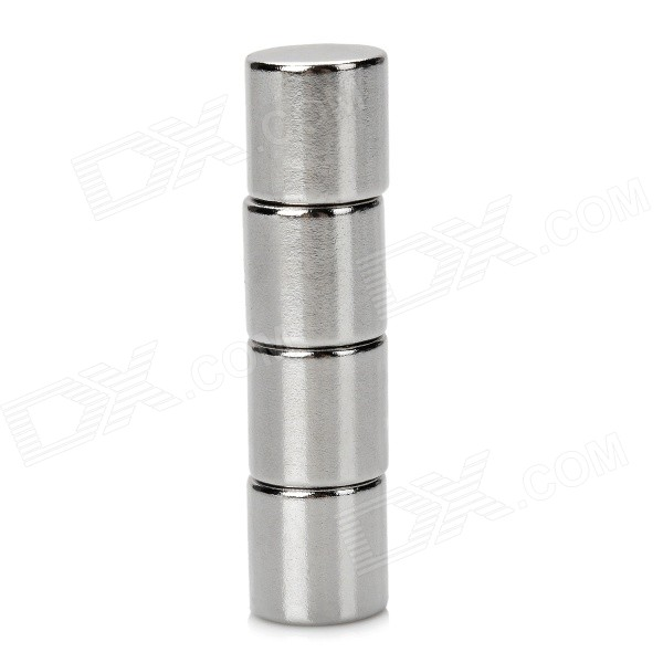 12 x 12mm Round NdFeB Magnets - Silver (4 PCS) thumbnail
