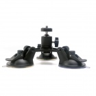 Triple-Cup Suction Mount w/ Ball Head for GoPro Hero 4/3+/3 SJ5000/4000, Xiaoyi, DSLR Camera