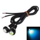 18mm 1.5W 60lm 490 нм LED Ice Blue Car Daytime Running лампы / Декоративные Eagle Eyes свет (12V, 2 шт)