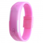 Plastic Band LED Water Resistant Bracelet Wristwatch - Pink (1*AG13)