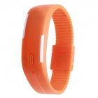 Plastic Band LED Water Resistant Bracelet Wristwatch- Orange (1*AG13)