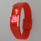 Plastic Band LED Water Resistant Bracelet Wristwatch - Red (1*AG13)