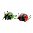 Funny Stress Relieving Ladybug Toy Set - Red + Green + Multicolor (2 PCS)