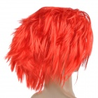 Stylish Hair Decorative Fiber Messy Short Wig - Red
