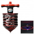 1 Red Laser + 5-LED RGB Light Spinning Top Toy w/ Music Effect for Kids - Red + Black ( 3 x AG13)