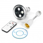 E27 Bulb Wi-Fi Remote Camera Video Surveillance System - White