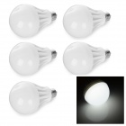 E27 6.5W LED RC Voltage-reducing Bulbs Lamps Cold White (220V / 5PCS)