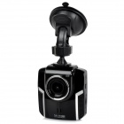 "2.36"" LCD Full HD 2.3"" CMOS 1.3MP Wide Angle Car DVR w/ G-Sensor, Night Vision - Black"