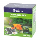 HALIN HK330 Outdoor Camping Cooking Utensils - Black Grey