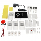 433MHz Quad-Band GSM Remote Control Alarm System - Black + White