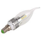 WaLangTing E14 5W 20-LED Candle Lamp Warm White 450lm - Silver + White
