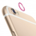 TPU Back Case + Lens Guard Ring Sticker for IPHONE 6 Plus - Pink