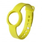 Replacement Rubber Sports Wrist Band for Jawbone Up Move Smart Bracelet - Yellow